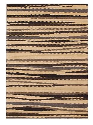 Mili Designs NYC Sandy Patterned Rug, Tan/Multi, 5' x 8'