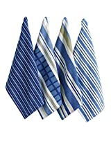 Tag 631407 Basic Dish Towels (Set of 4), Blue, 26 Long by 18 Wide