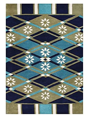 Horizon Alliyah Collection Geo Rug (Green/Blue/Smoke Multi)