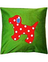 Green Pup Cushion Cover