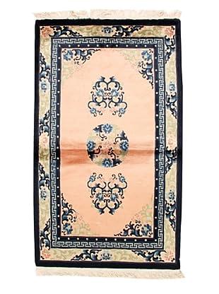 Roubini Chinese Antique Finish Rug, Light Pink/Cream/Navy, 3' 2