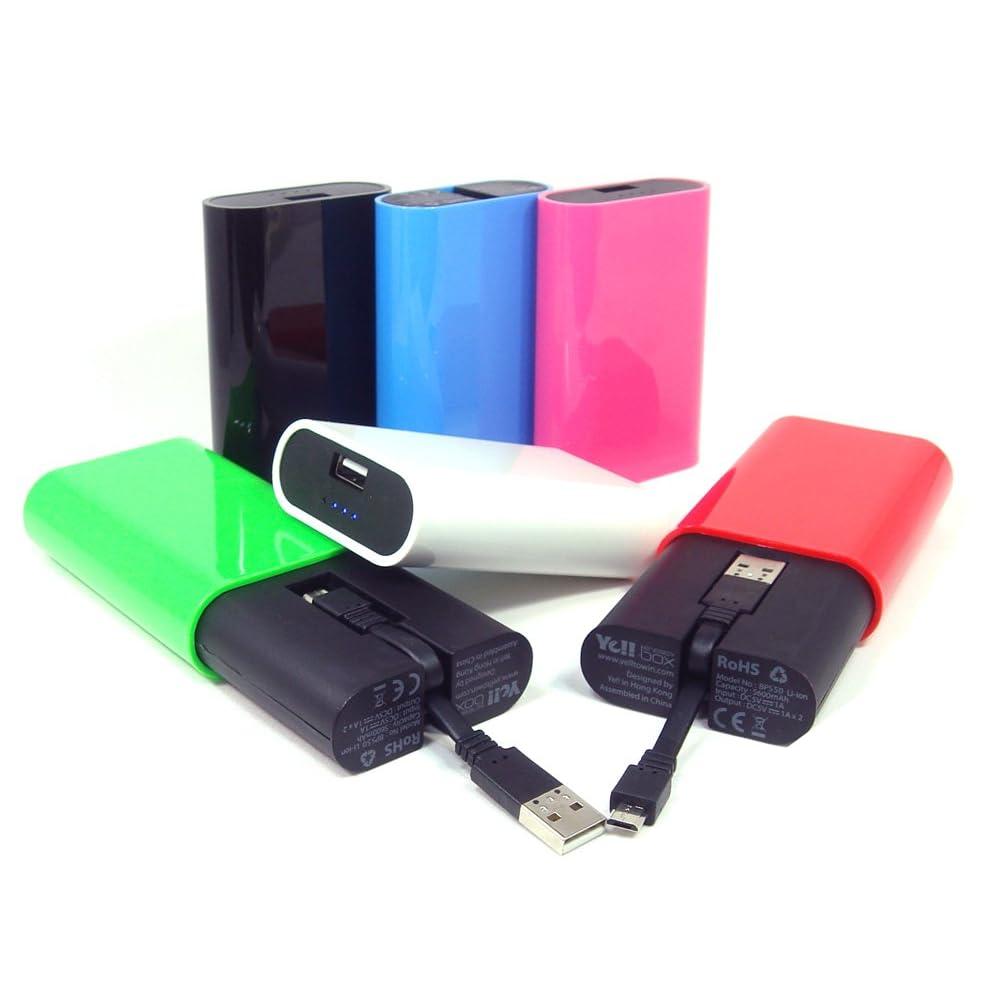 Ye!! Energy Box スマホ充放電USBケーブル内蔵 大容量モバイルバッテリー 5600mAh 【国内正規保証品】 (ホワイト)