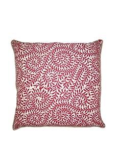 "Lacefield Designs Wesley Basket Weave 20"" x 20"" Pillow, Sangria"