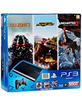 Sony PlayStation 3 500GB SuperSlim Console (Free Games: Motorstorm Pacific, Uncharted 2 and Killzone 3)
