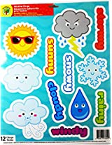 Teaching Tree Educational Window Clings - Reusable Window Decorations (Weather)
