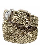 Luxury Divas Beige Braided Elastic Stretch Belt Belt Size XXX-Large (50-52) AD
