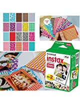 Fujifilm Instax Mini Twin Pack Instant Film 20 Sheets/20PCS different Pattern Instan FujiFilm Instax Mini 8 7s 25 50s Sticker Set