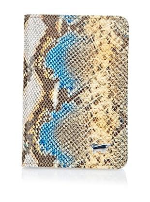 Braun Büffel Kreditkartenetui (beige/blau/safran)