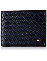Tommy Hilfiger Clapcot Multicolor Men's Wallet (TH/CLAP01GCW/BLK+NVY - TH/CLAP01GCW/BLK/NVY)