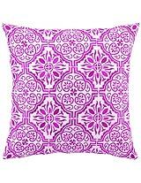 Peking Handicraft 18 by 18-Inch Down-Filled Pillow, Barcelona, Pink