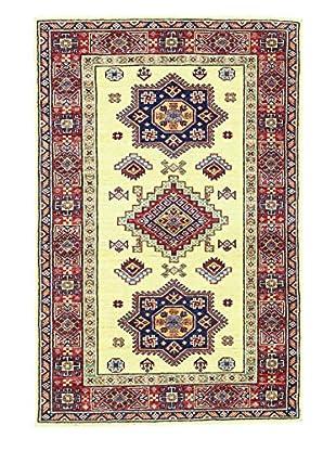 Bashian Hand Knotted Fine Kazak Rug, Ivory, 3' 3