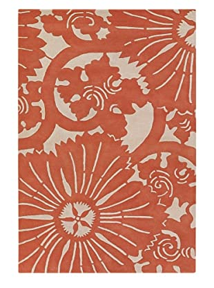 Chandra Counterfeit Studio Hand Tufted Wool Rug (Orange/White)