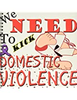 3dRose db_202671_1 Kick Domestic Violence Drawing Book, 8 by 8""