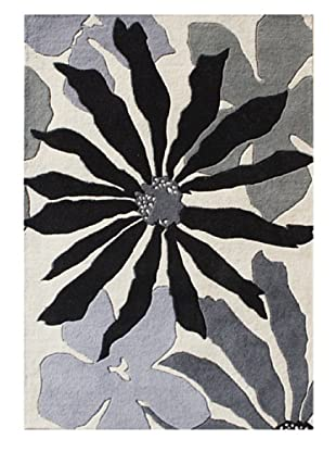 Alliyah Rugs New Zealand Wool Rug (White/Gray/Black Multi)