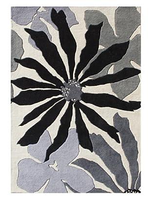 Alliyah Rugs New Zealand Wool Rug (White/Gray/Black Multi)