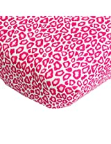 Caden Lane Crib Sheet, Girly Pink Leopard