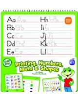 LeapFrog Printing, Numbers, Math and Shapes Dry Erase Practice Workbook for Grades K-1 with Washable