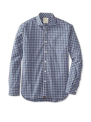 Billy Reid Men's John T Woven Shirt (Blue/Navy)