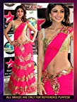 Shilpa Shetty in pink Lehnga saree at Nach Baliye 6 Grand Finale