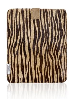 Natural iPad Cowhide Case (Zebrina)