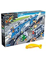 Banbao 8228 Remote Control Cargo Train Set with Tracks 1275pcs (Compatible with Legos) with Coloring Book