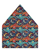 Tiekart Printed Silk Pocket Square (Ps360_Multi)