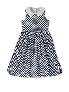 Baby CZ Girl's Eliza Sleeveless Dress (Navy/White)