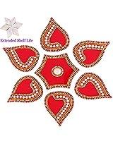 Diwali Gifts - Decorative Acrylic Rangoli PA6 with kaju katli