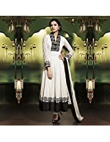 Off White Cotton Silk Anarkali Suit