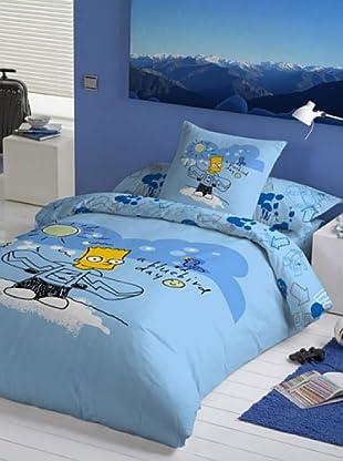 Euromoda Licencias Juego de Fundas Nórdicas Snow Bart (Azul)
