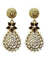 Dhwani Creation Drop Alloy Earrings For Girls and Women (Black)