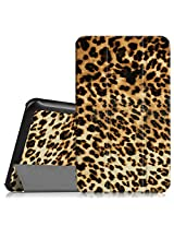 """Fintie Samsung Galaxy Tab E 8.0 Case - Ultra Slim Lightweight Standing Cover for Samsung Galaxy Tab E 8"""" (Sprint / US Cellular) SM-T377 4G LTE 8-Inch Tablet, Leopard Brown"""