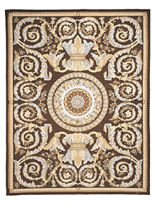 French Accents Regal Aubusson (Gold/Brown/Blue)