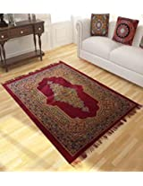Home Candy Cheerful Light Weight Ethnic Velvet Carpet - Maroon