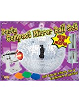 "Forum Novelties Party Compact 8"" Mirror Disco Ball Light Set"
