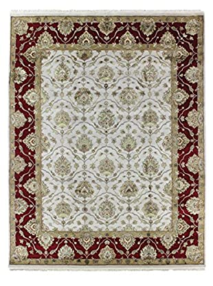 Bashian Rugs One-of-a-Kind Hand Knotted Wool/Silk Agra Rug, Beige, 8