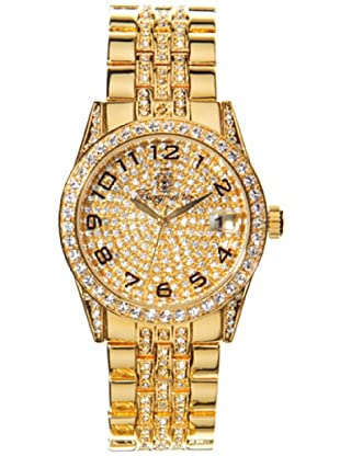 Burgmeister Diamond Star BM119-299 - Reloj de caballero de cuarzo, correa de acero inoxidable color oro