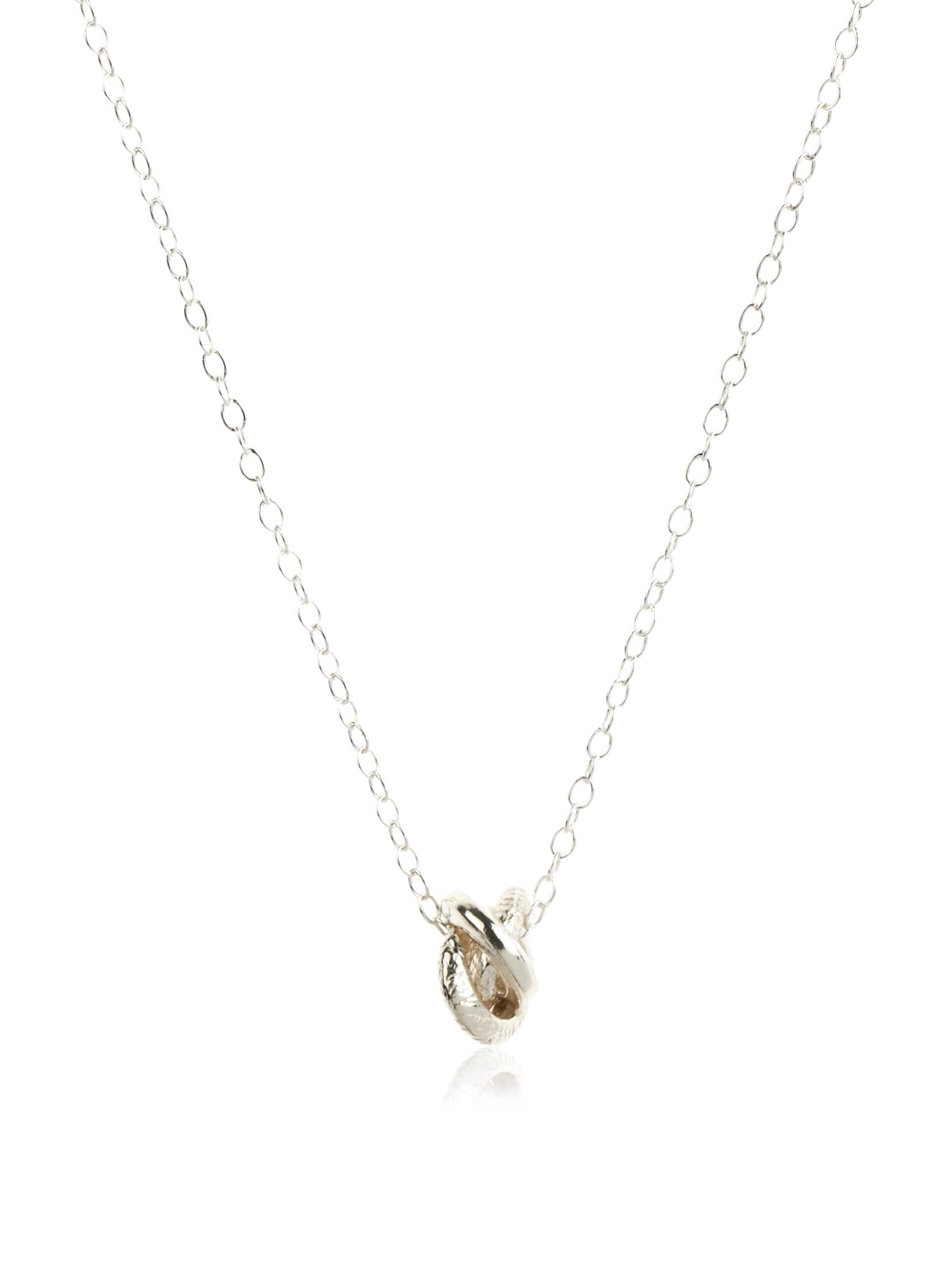 gorjana Infinity Sterling Silver Ring Necklace