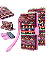 S7 case, Galaxy S7 Flip cover, E LV Samsung Galaxy S7 Flip Folio Wallet Case Cover - Deluxe PU Leather Flip Wallet Case Cover for Samsung Galaxy S7 - TRIBAL