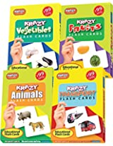 Krazy Combo Mini flash cards Set of 4(Fruits,animals,vegetables,transport)