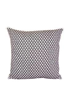 "Lacefield Designs Calais 20"" x 20"" Pillow, Brown/White"
