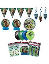Unique Jurassic World Dinosaur Birthday Party Favors And Decorations Kit Pack