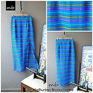 Madhurima Bhattacharjee Blue Stripped Maxi Skirt