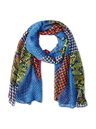 Jules Smith Women's Mixed Pattern Scarf, Blue Multi