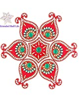 Diwali Gifts - Decorative Acrylic Rangoli 1513 with kaju katli