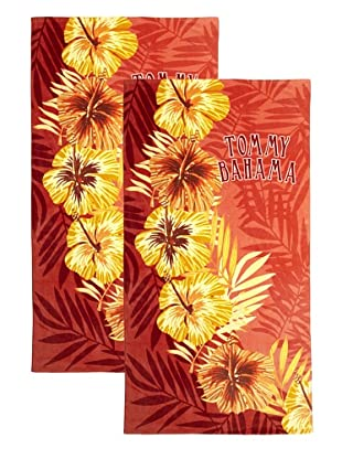 Tommy Bahama Set of 2 Hibiscus Beach Towels