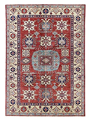 Bashian Rugs One-of-a-Kind Hand Knotted Kazak Rug, Red, 5' 6