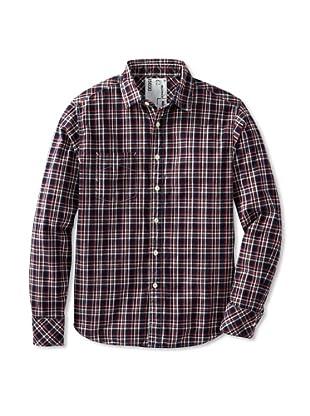 Billy Reid Men's Elkins Sport Shirt (Red Blue)