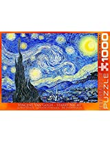 Van Gogh Starry Night 1000 Piece Puzzle And Poster Set