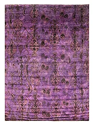 nuLOOM One-of-a-Kind Hand-Knotted Ikat Thompson Rug, Purple, 8' 9
